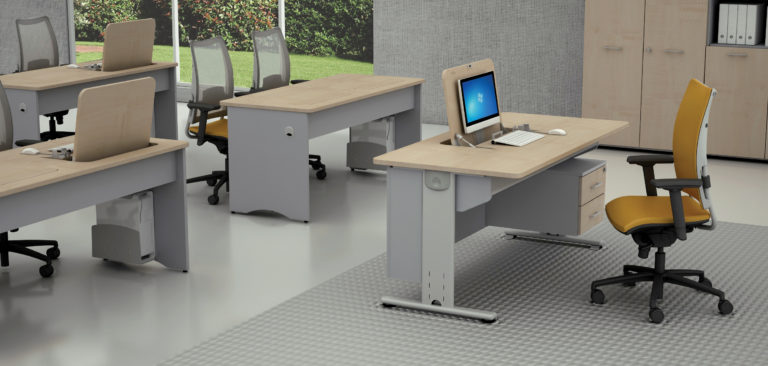 Reversible desk metallic